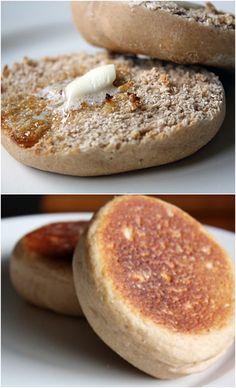 Homemade Whole Wheat English Muffins!