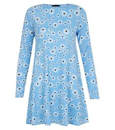 Free delivery available today - Shop the latest trends with New Look's range of women's, men's and teen fashion. Blue Daisy, Easter Outfit, Summer Wardrobe, Swing Dress, Teen Fashion, Cute Dresses, New Look, Latest Trends, My Style