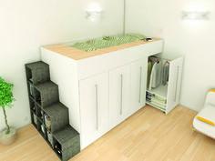 Lit mezzanine, all inclusive solution ARCHEA http://www.marieclairemaison.com/,lit-mezzanine-dressing-archea,200113,277465.asp