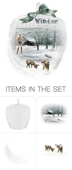 """Have a Wonderful Winter Weekend Everybody 😀"" by ragnh-mjos ❤ liked on Polyvore featuring art, Winter, apple and glass"