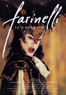 French/Italian Era: 1780  Farinelli, is the artistic name of Carlo Broschi, a young singer in Handel's time. He was castrated in his childhood in order to preserve his voice. During his life he becomes to be a very famous opera singer, managed by his mediocre brother. a costume drama with an unusual, even exotic, story line, and a tender, universal tale of real love.