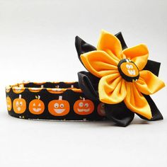 Hey, I found this really awesome Etsy listing at https://www.etsy.com/listing/536320880/spooky-dog-collar-with-flower-for