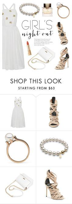 """Girls' Night Out: Summer Edition"" by pearlparadise ❤ liked on Polyvore featuring Blugirl, Giuseppe Zanotti, Burberry, Dolce&Gabbana, girlsnightout, contestentry, pearljewelry and pearlparadise"