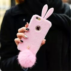 Iphone 6s rabbit bunny fur case.New New in a box bunny case for iphone 6/6s. The Price is firm. Accessories Phone Cases