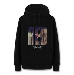 XXXL Taylor Swift red hoodie for winter thick fleece sweatshirt