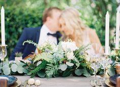 #fern, #centerpiece  Photography: Ashley Bosnick Photography - ashleybosnick.com Photography: Tracy Enoch Photography - tracyenochphotography.com  Read More: http://www.stylemepretty.com/2014/10/28/romantic-navy-italian-inspired-wedding/