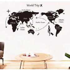 PVC Removable World Map Wall Sticker Living Room Decor Decal Vinyl Art Mural