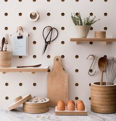 Pegboard - a great and neat home storage idea