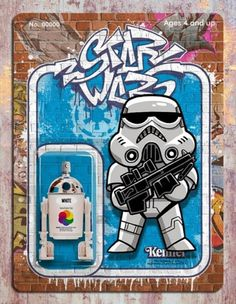 Check out this awesome series of Star Wars street art created by Phil Postma . I love the spray can packaging art that he came up with for several characters from the sci-fi franchise. Leia Star Wars, Star Wars Art, Iconic Characters, Star Wars Characters, Dragon Ball Z, Star Wars Action Figures, Star Wars Collection, Street Art Graffiti, Graffiti Drawing