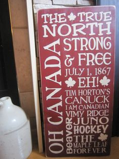 Items similar to Oh Canada Sampler Primitive Rustic Country Canadian Sign on Etsy Canada Day 150, Canada Day Party, O Canada, Canada Wall, Wooden Diy, Wooden Signs, Canada Day Crafts, True North, Super Party