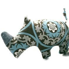 Plush Squeaky Dog Toys  Rhinoceros by wagsandwiggles on Etsy, $10.99