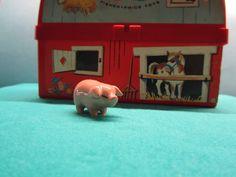Pig Decor Miniature Ceramic Figurine 70's Vintage Hagen Renaker Fairy Garden Terrarium Figure Pink Piglet Collectible Farm Figure Gift (10.00 USD) by WillowValleyVintage