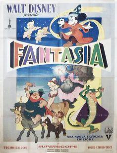Fantasia, terza edizione italiana, distr. RKO 1958, 4 fogli (140x200 cm).