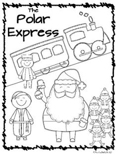 Made this coloring sheet for a polar express themed childrens