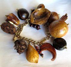 Vintage 1950s Hawaiian Seed Pod Bracelet Good Luck by AustinModern, $55.00