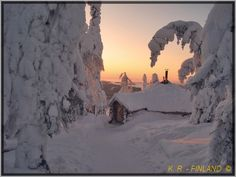 A Snow-covered Cafe - , Eastern Finland this looks cold but I still think it would be worth checking out!
