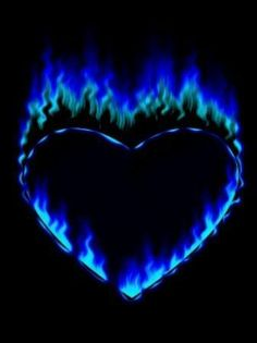 The hottest part of fire. This reminds me of the tattoo I got when I turned A heart with blue flames. It's on the back of my shoulder. I hardly ever show it, but it's apart of me forever.