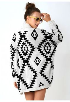 Aztec Open Knit Cardigan you know but with some pants because I'm pretty sure its still not socially acceptable to not wear pants....