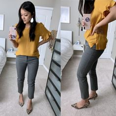 Target + Grey Pants cute and comfortable office and work outfits to wear all day long Summer Work Outfits, Casual Work Outfits, Work Casual, Spring Outfits, Cute Outfits, Comfy Casual, Teaching Outfits Summer, Teacher Outfit Summer, Fall Teacher Outfits