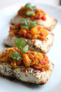 Grilled Mahi Mahi with Mango Chutney (Paleo Dinner)