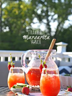 Delicious and easy Strawberry Margarita Punch is the perfect cocktail to make for a crowd! Easily made kid friendly by leaving out the tequila. The past week I made several...