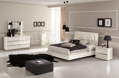 Stella Bedroom Set in White by J&M