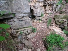 one of the small cave openings