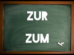 Aprender Alemão - Aula nº73 (Diferença entre Zum e Zur) - YouTube