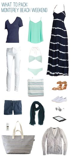 EmilyStyle: What to Pack: Beach Weekend in Monterey, California