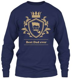 Best Dad Ever 2017 Navy T-Shirt Front