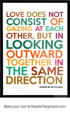 Antoine de Saint-Exupery Framed Quote