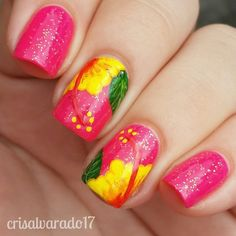Hibiscus Nails, crisalvarado17