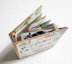 Tutorial Álbum pre-montado con sobres: http://cinderellatmidnight.com/2013/10/28/el-mundo-pertenece-a-los-valientes/