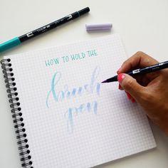 how to hold brush pen. calligraphy & brush lettering