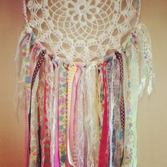 Moonlit Lace dream catcher. handmade. up-cycled. reclaimed. one-of-a-kind. vintage materials. Go to Moonlit Lace on Facebook and follow on Instagram! www.facebook.com/moonlitlacedreamcatchers