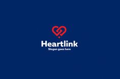 Heart Link Logo Template by Rudy-design on @creativemarket