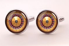 Casino Roulette Cufflinks,Photo Cufflinks,Groomsmen Wedding Cufflinks