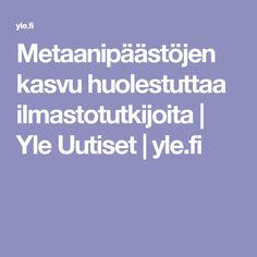 Metaanipäästöjen kasvu huolestuttaa ilmastotutkijoita | Yle Uutiset | yle.fi