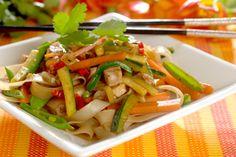 Koteletter i wok Wok, Pasta Salad, Asparagus, Meat, Chicken, Vegetables, Ethnic Recipes, Journal, Crab Pasta Salad