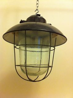 Vintage Industrial Lamp   eBay