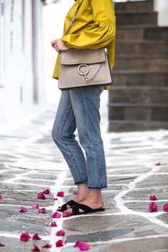 Chloé Faye bag in motty grey