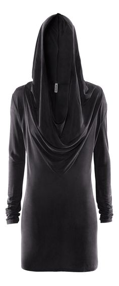 H&M Divided Grey hooded black cowl dress. Rick Owens Lilies for less, much less. Perfect for layering.