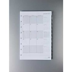 2013 Calendar for the ARC binder.  It has tabs for each of the months, and weekly pages.  There is a month only option as well, but I like having the flexibility of writing down appointments and notes on weekly pages.  $14.99