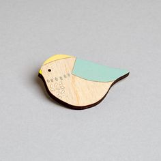 Wooden Bird Brooch  Bluetit от AnnaWiscombe на Etsy