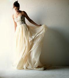 Wedding dress, Boho wedding dress, Bohemian wedding dress, Ivory wedding dress, Silk wedding dress, lace dress, Alternative wedding dress by larimeloom on Etsy https://www.etsy.com/listing/227279485/wedding-dress-boho-wedding-dress