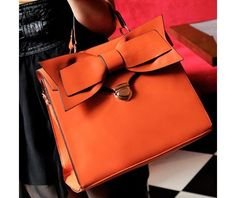 Orange Ribbon Handbag- New color! $55.00