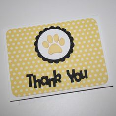 Paw Print thank you cards  Dog themed thank by JillyBearDesigns, $24.00