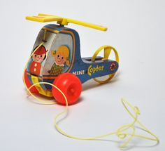 Mini Copter Pull Toy
