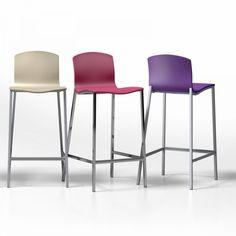tabouret / chaise de bar design bois teinté bleu scandinave baltik ... - Chaise Haute Pour Bar