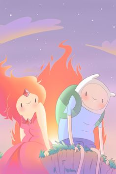 Finn and Flame Princess by Xx-Matsuda-xX.deviantart.com on @deviantART